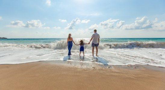 plage en famille